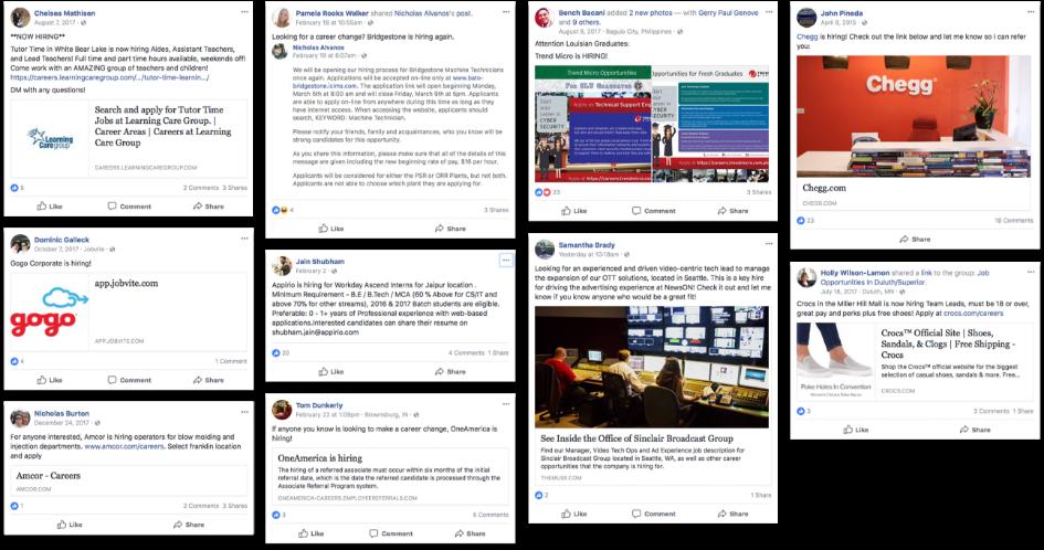example social media posts