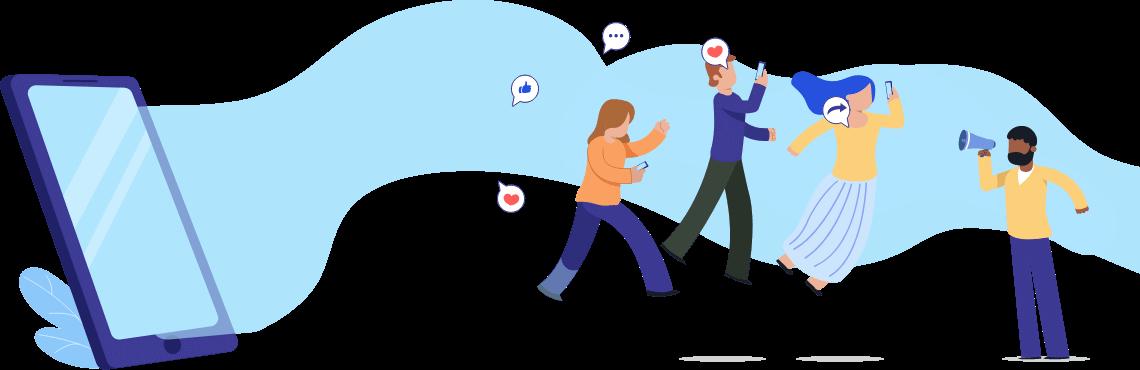 Employees sharing jobs on social media